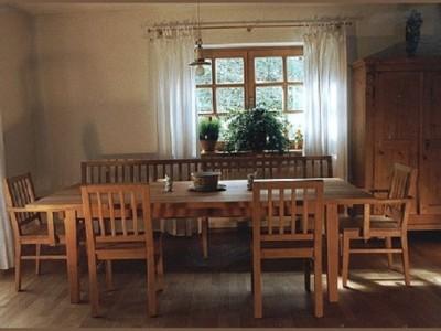 Essgruppe Bank mit Lehne Tisch 240/100 cm