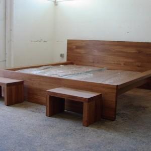 Eichen Bett mit Seitenteilen
