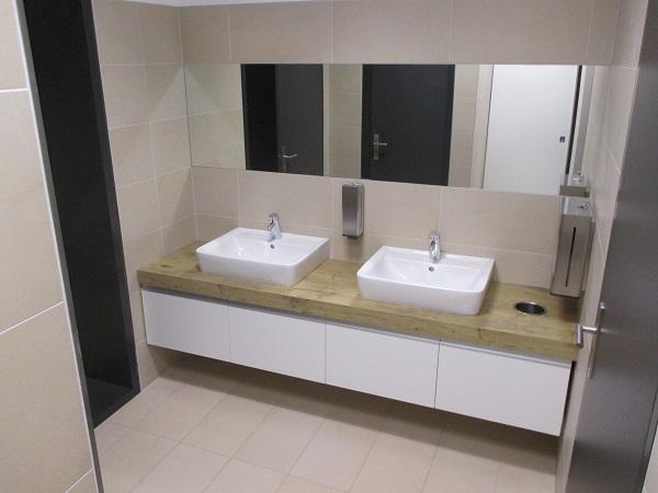WC Vorraum Platte Eiche Schichtstoff