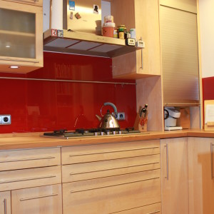 Ahorn Küche Massivholzfronten Oberfläche geölt